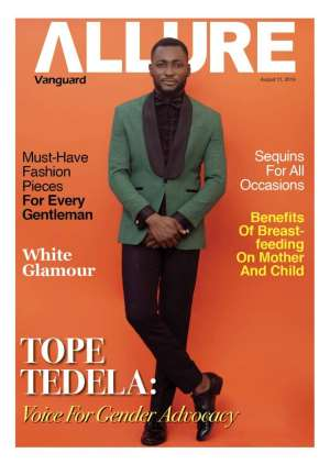 ope Tedela  covers latest edition of Vanguard Allure