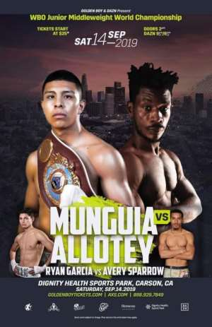Ghana's Patrick Allotey Gets Chance ForWorld Title Shot; Set To Face Mexican Jaime Munguia