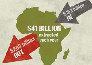 African leaders really need to stop the systematically looting of the continent by foreign governments