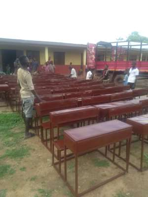 Hon. Danladi Saaka Supports Kito D/A Primary School With Desks