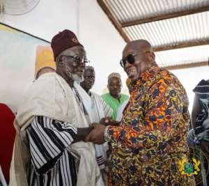 Bawku Naba, Asigri Abugrago Azoka II welcomes President Akufo-Addo