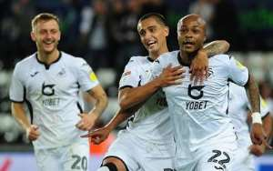 Watch Ayew's Brace That Propelled Swansea Into Carabao Cup Second Round [VIDEO]