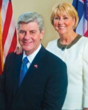 U.S. Governor Of The State Of Mississippi Builds Trade Links With Ghana
