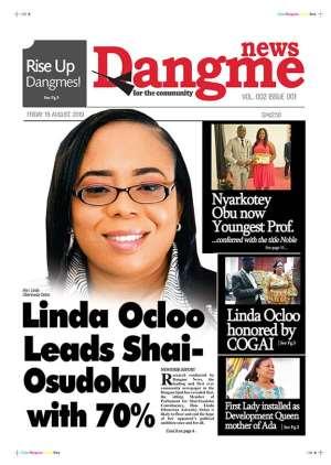 Linda Ocloo Leads Shai-Osudoku With 70%...Dangme News Bounces Back!