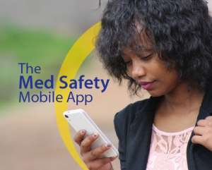 The newly launched Med Safety App is expected to improve the safety of health products in Ghana. Photo: Med Safety App official flyer.
