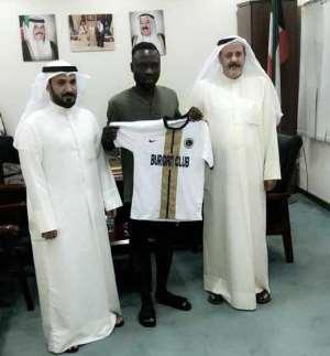OFFICIAL: Kuwait Side Burgan SC Signs Former Aduana Stars Forward Bright Adjei