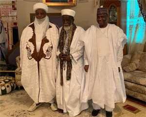 From left: His Eminence The Sultan Of Sokoto, Chief Imam and the Governor of Sokoto State during the visit
