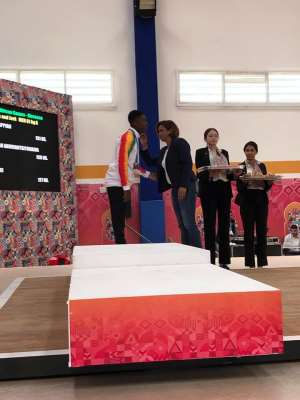 Ghana's Akwei Wins Another Bronze In Weightlifting