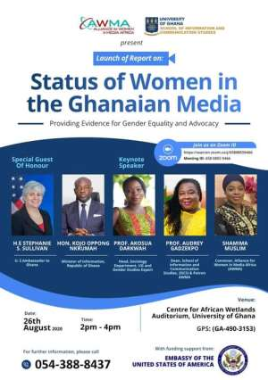 New AWMA Report To Highlight Status Of Women In Ghanaian Media