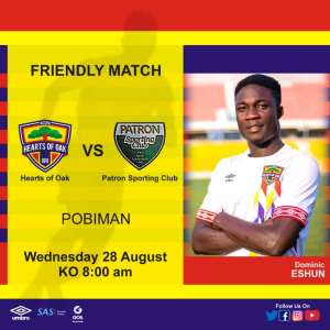 CONFIRMED: Hearts To Engage Patron Sporting Club In A Friendly tomorrow