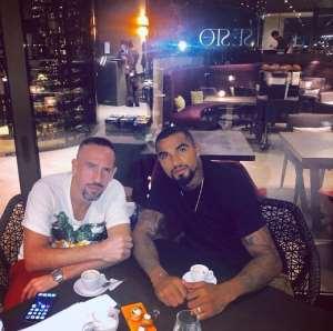 KP Boateng And Frank Ribery Enjoys Dinner In Florenz