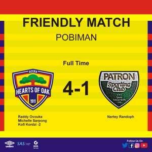 Hearts 4-1 Patron SC: Phobians humble lower division side at Pobiman