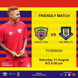 Hearts of Oak Line Up Friendly With Inter Millas FC on Saturday