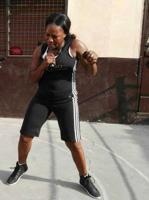 Yarkor Chavez Annan, Ghana's First Lady In Boxing Not Given Up