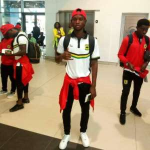 Kotoko Midfielder Richard Senanu Returns To Ghana After Successful Surgery In Germany