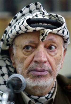 Kufuor signs Book of Condolence for Arafat