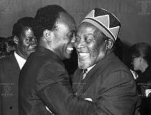 Moments of happiness, Nkrumah, and Kenyatta