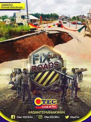 "OTEC FM In Kumasi Begins ""Operation Fix Our Roads' Campaign"
