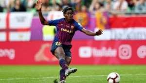 Nigerian Striker Oshoala Scores Hat-Trick For Barcelona Femeni Pre-Season Friendly