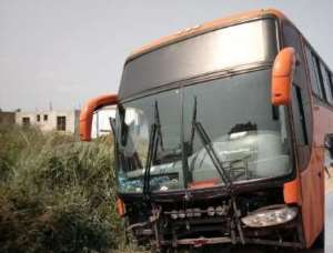 The bus after the accident