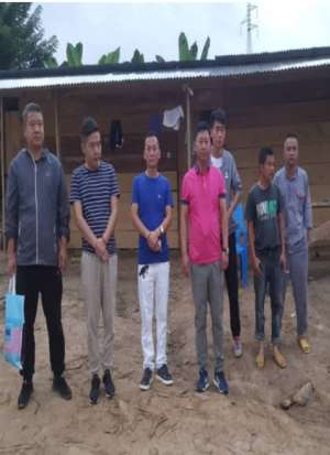 Nine Illegal Chinese Miners Arrested