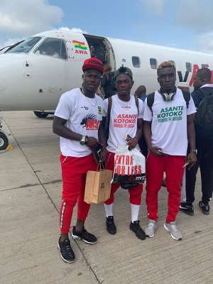 CAF CL: Asante Kotoko Arrive In Nigeria Ahead Of Kano Pillars Encounter [PHOTOS]