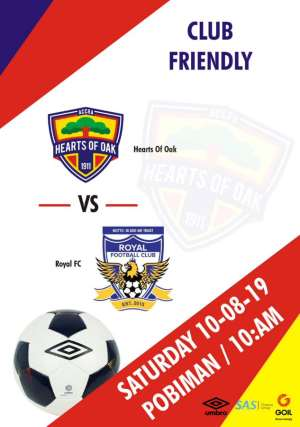 Hearts Of Oak To Play Two Friendly Matches On Saturday