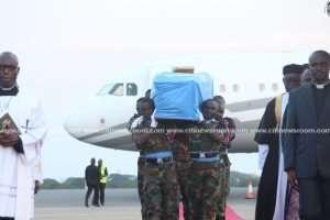 Kofi Annan's Remains Arrive In Accra
