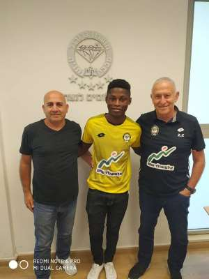 CONFIRMED: Ghanaian Striker Sampson Awuah Joins Israeli Side Naccabi Netanya