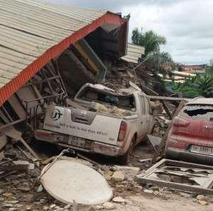 3 Storey Building Collapse To The Ground At Ahenema Kokoben In The Ashanti Region