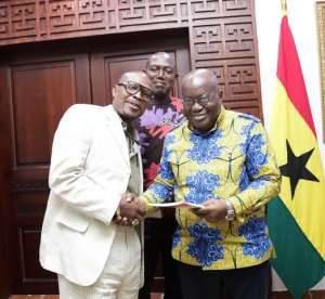 Akufo-Addo Receives Copies Of Ekow Asmah's Book ''Celebration Of Our World Champions