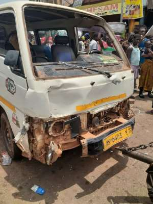 Kumasi: Vehicle Ram Into Traders, One Person Dead, Six Others In Critical Condition