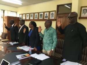 Five-Member Vetting Committee For GFA Elections Sworn In