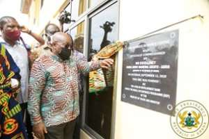 His Excellency Nana Addo Dankwa Akuffo-Addo commissioning the Bechem Business Resource Centre
