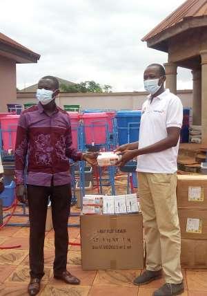 World Vision Ghana Partners Present Handwashing Stations, PPEs To Asutifi North District