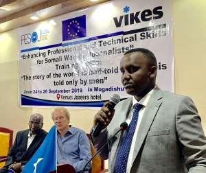 FESOJ, VIKES Kick Off Three Day Training On Enhancing Professional And Technical Skills For 30 Female Journalists In Mogadishu