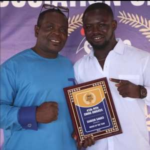 Black Bomber Coach Asare Congratulates Amateur Boxer Of The Year Shakur Samed