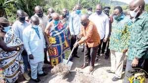 President Akufo-Addo in the Western North Region