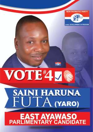 NPP Decides: Saini  Haruna Yaro Futa Optimistic Of His Chances