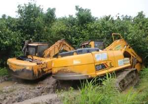 NADMO Wants Seized Galamsey Excavators Released