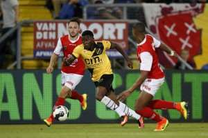 Ghanaian striker Thomas Agyepong suffers slight injury at Dutch side NAC Breda