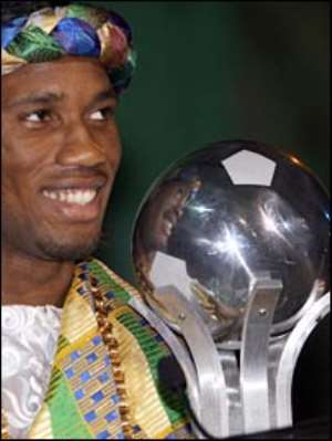Didier Drogba wins African player award with 79 votes