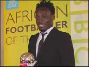 Ghana's Michael Essien is the BBC African Footballer of the Year