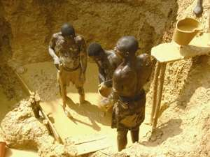 Five galamsey operators killed in a mining pit at Mpohor