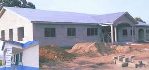 INSET: The Bugubelle Police Station, The Divisional Police Headquarters under construction at Tumu