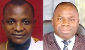 Togbe Afede (left) Mr. Andani (right)