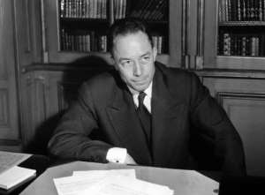 File picture shows Albert Camus posing for a portrait in Paris on October 17, 1957.  By  (AFP/File)