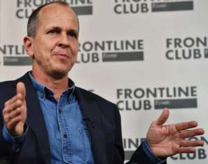 Australian journalist Peter Greste speaks during a press conference at the Frontline Club in London, on February 19, 2015.  By Ben Stansall (AFP/File)