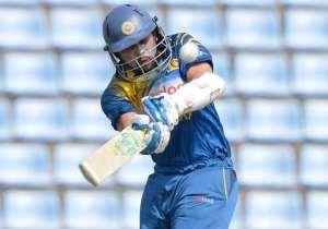 Sri Lankan batsman Tillakaratne Dilshan plays a shot during the second One Day International match between South Africa and Sri Lanka at the Pallekele stadium in Pallekele on July 9, 2014.  By Ishara S. Kodikara (AFP)