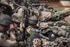 French army soldiers prepare to leave a base camp in Sevare, on January 22, 2013.  By Fred Dufour (AFP/File)